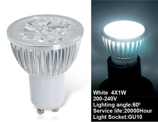 LX1713X GU10 4 x 1W Регулируемая холодная светодиодная лампочка - белый