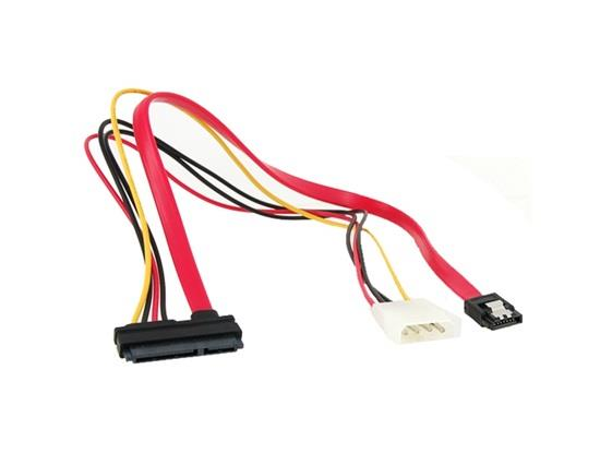 4 Big Pin +7 Mini Pin Power/Data to 15 Pin IDE Power SATA Date Cable - Red