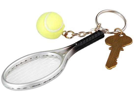 Portachiavi racchetta da tennis HP2956X - argento + verde