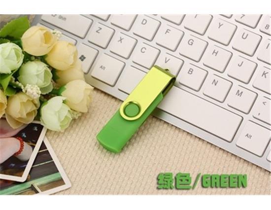 Clé USB 32GB de lecteur de sauts OTG à double prise pour téléphone mobile, tablette PC, clé USB, clé USB - vert
