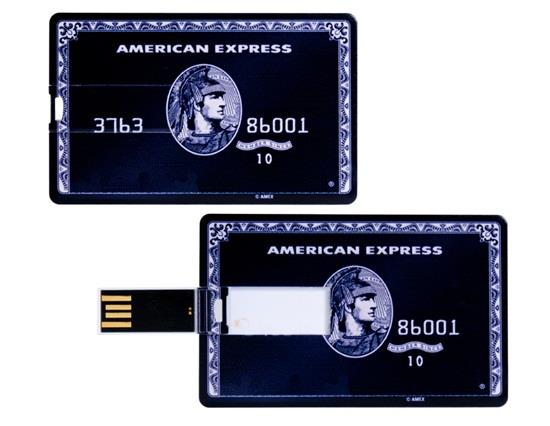8GB American Express Card Design USB Flash Drive - Nero
