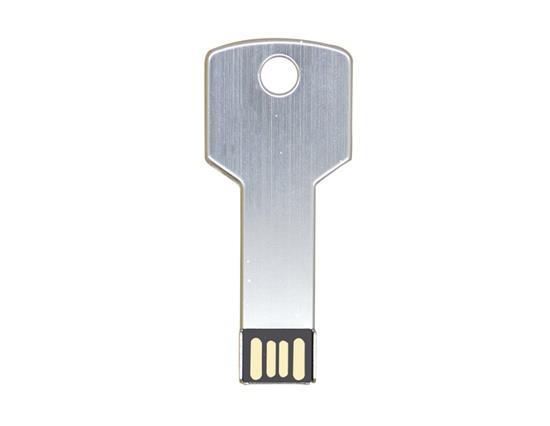 แฟชั่นใหม่คีย์โลหะแฟลชไดรฟ์ USB 32GB แฟลชไดรฟ์ USB - เงินสีขาว