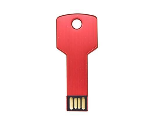 新しいファッションメタルキーUSBフラッシュドライブ32GB USBフラッシュドライブ - 赤