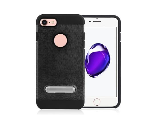 Angibabe Color Checkered TPU+PC Two in One with Stand Phone Case for iPhone 8 - Black фото