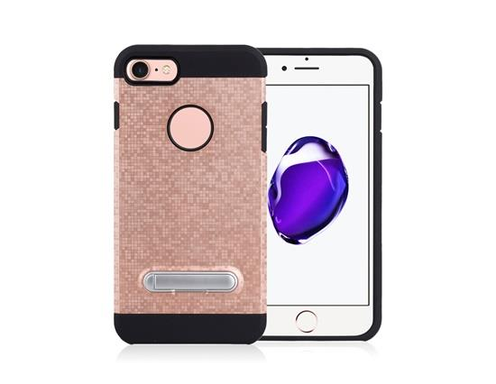 Angibabe Color Checkered TPU+PC Two in One with Stand Phone Case for iPhone 8 - Rose Gold фото