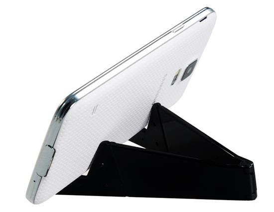 Foldable V Shaped Phone Stand Holder - Black