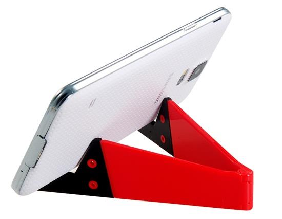 Foldable V Shaped Phone Stand Holder - Red фото