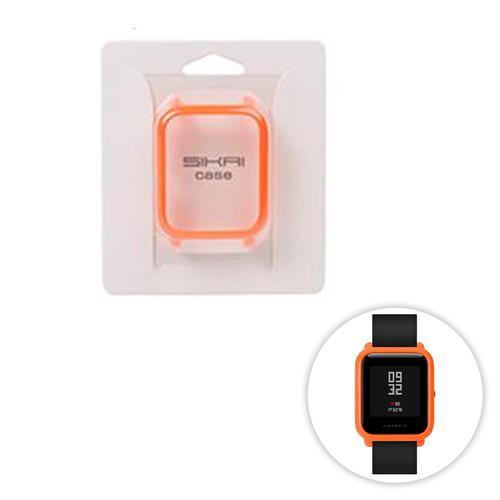 حماية الغطاء القضية ل هوامي أمازفيت بيب لايت سمارتواتش الهاتفي لوحة متعددة اللون - البرتقالي
