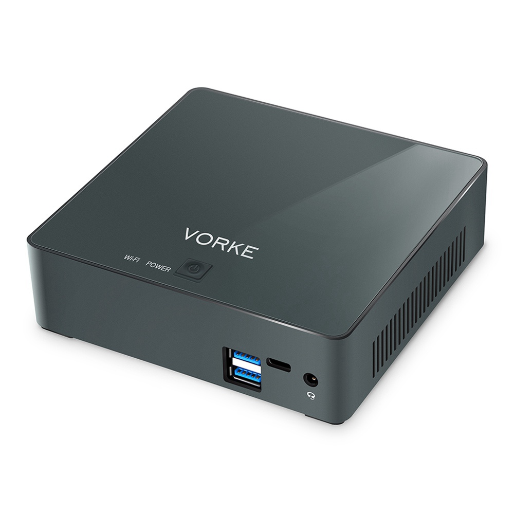 VORKE V2 Pro Intel Kaby Lake R i5-8250U 8GB DDR4 RAM 128GB NVME SSD Ubuntu 16.04 Mini PC AC WIFI Gigabit LAN HDMI USB 3.0 TYPE-C Op te waarderen naar 16GB