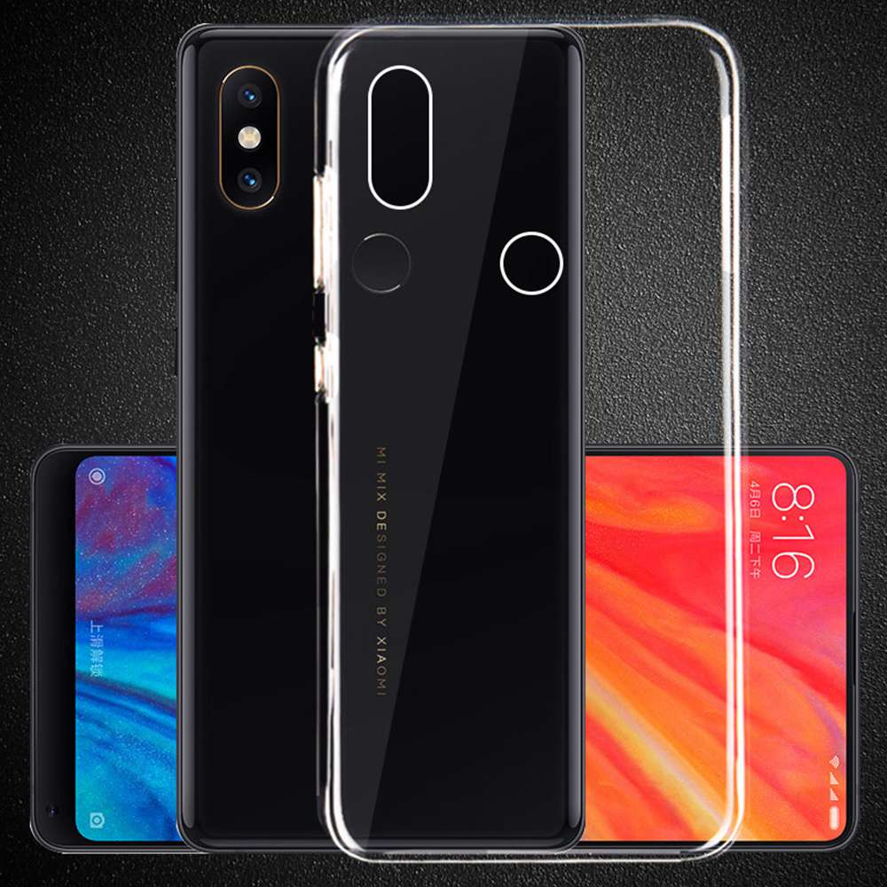 Xiaomi MIX 2S Phone Case Soft Case Protective Phone Shell Back Cover- Transparent