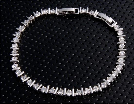 18K Платиновый сплав Стильный браслет - Белое золото