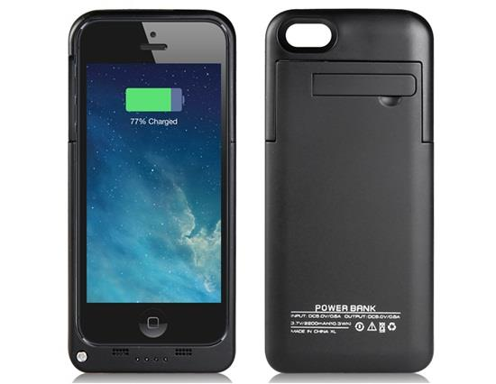 2200mAh Backup Battery Power Bank for iPhone 5S/5 - Black