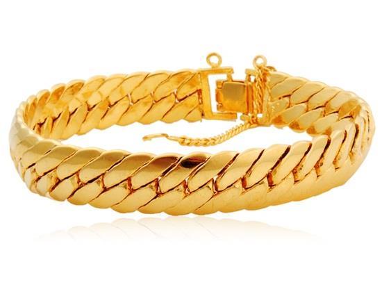 24k Gold Plated Copper Bracelet