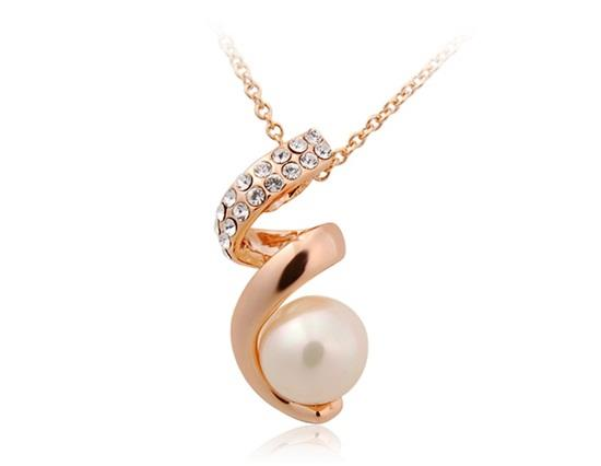 Rigant 18K RGP Alloy Pearl Necklace - Gold