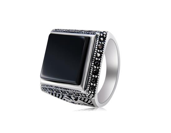 خاتم من الذهب الأبيض عيار 18 قيراط من الذهب الأبيض من باكنينا - أسود