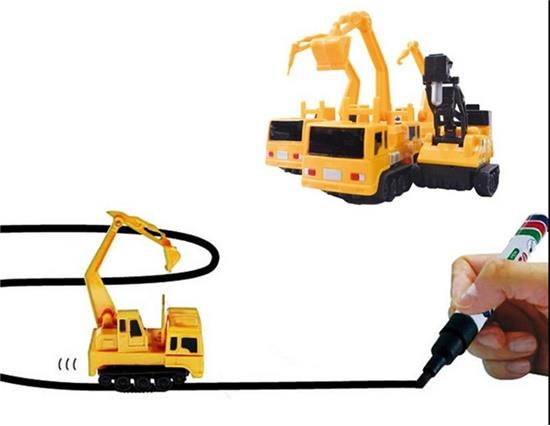 Mechanical Vehicles Toys Mini Path-following Inductive Truck - Yellow Other