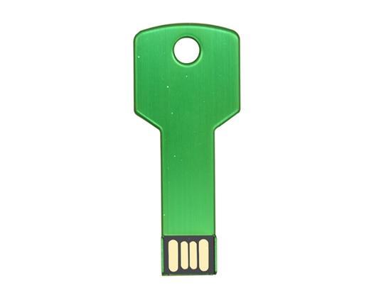 新しいファッションメタルキーUSBフラッシュドライブ8G USBフラッシュドライブ - グリーン