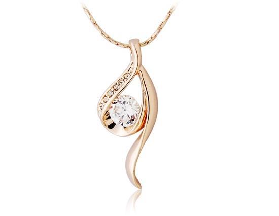 Collier 9 en forme de diamant avec décoration de diamants - Or
