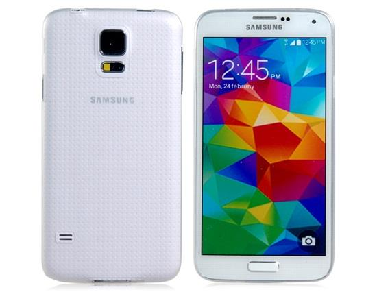 Ultra-slim Matte Plastic Case for Samsung Galaxy S5 I9600 - Transparent White фото