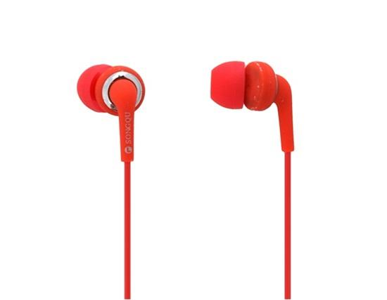 Songqu SQ-20MP In-Ear-Ohrhörer mit 3.5mm Stereo Bass 1.5m Kabel - Rot