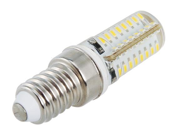 E14 3W 220V Warm White 3000K 64*3014 LED Corn Light фото