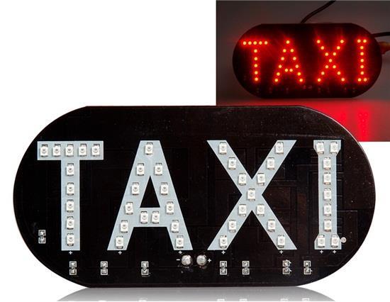 مصباح LED TAXI Sign - أسود