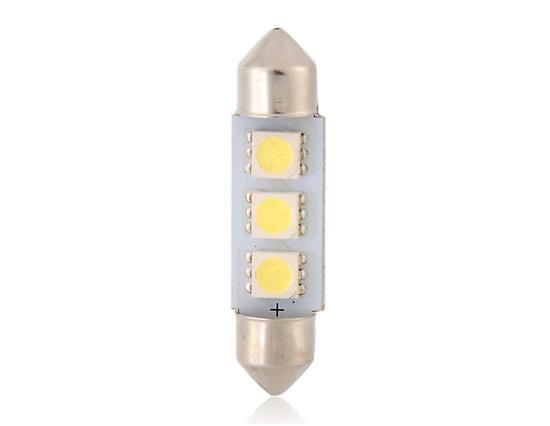 T10 5050 3-LED 39mm Белый / Синий Festoon Автомобильный свет - Белый