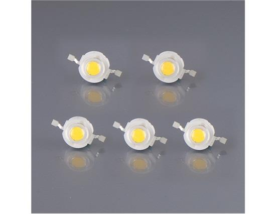 High Power 1W 110-120LM 3000-3200K Warm White LED Light Beads 5Pcs/Set, Other  - buy with discount