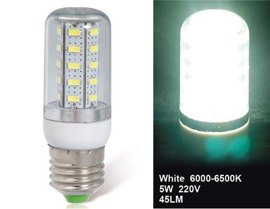 5W E27 36 x 5730 Cool White LED Corn Bulb Other