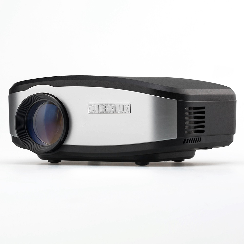 Cheerlux C6 1200 Lumens Proiettore LCD Supporto 720P HDMI / USB / VGA (PC) / Composito AV / Cuffie / TV - Nero