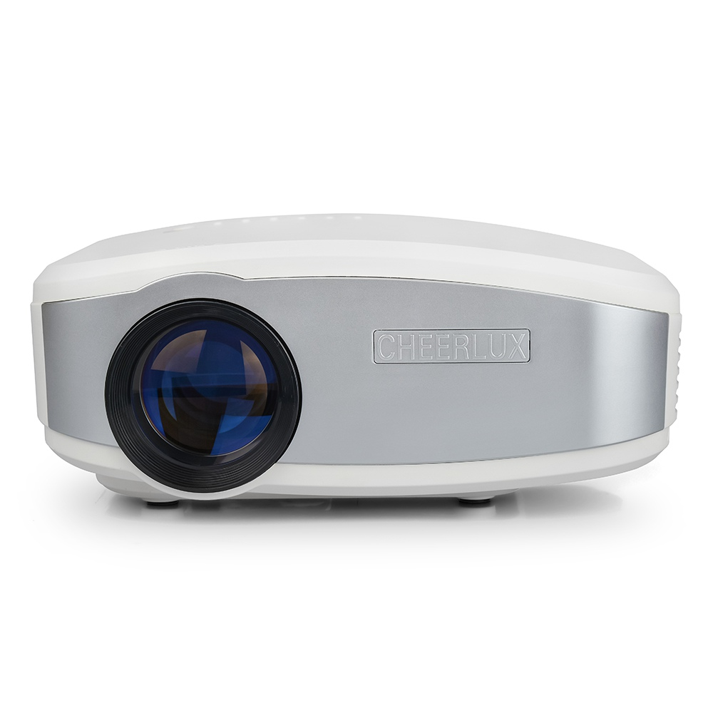 Cheerlux C6 1200 Lumens LCD Projector 720P Support HDMI/USB/VGA(PC)/Composite AV/Headphone/TV - White