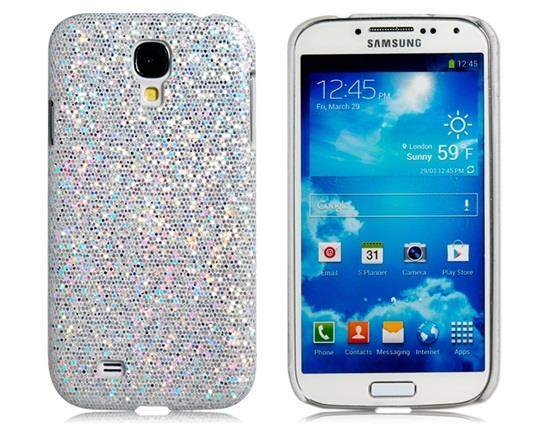 Sequined Skinning Plastic Case for Samsung Galaxy S4/ I9500 - White Other