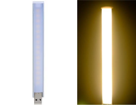 5V 1A 15x5050 Warm White USB LED Light (Silver) фото