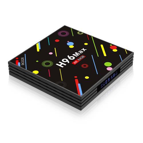 H96 MAX H2 النسخة الملونة 4GB / 64GB الروبوت 7.1 RK3328 KODI 17.3 4K مربع التلفزيون 2.4G / 5G واي فاي LAN بلوتوث USB3.0 HDMI LED العرض