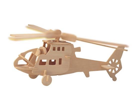 3D Puzzle di legno fai-da-te Mini modello di aereo da combattimento Safe Friendly-Environmental Simulazione Giocattoli di intelligenza per bambini