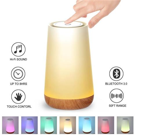 Geekbes S16A Touch Control Music Table Lamp Led Smart Bluetooth Speaker Control Night Light