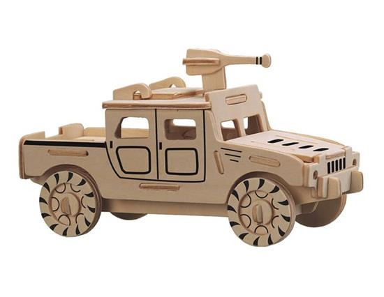 Mini Humvee Jeep Car Model 3D DIY Wooden Puzzles Safe Friendly-environmental Simulation Intelligence Toys For Kids Child фото