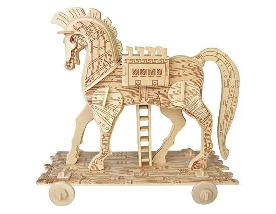 Trojan Horse 3D Wooden Puzzles Children's Educational Toys Architecture Model for Kids and Adults