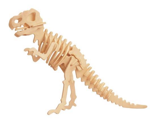 D-14-1 barkácsolás 3D Fa dinoszaurusz állati puzzle Mini Tyrannosaurus Rex Modell biztonságos Barátság-környezetvédelmi szimuláció Intellig
