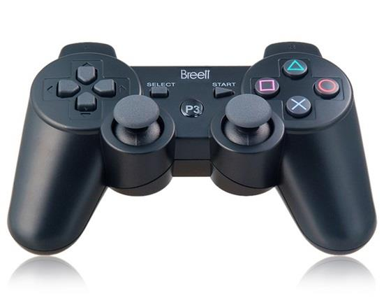 Manette sans fil Bluetooth à six axes DualShock pour manette PlayStation 3 - Noir