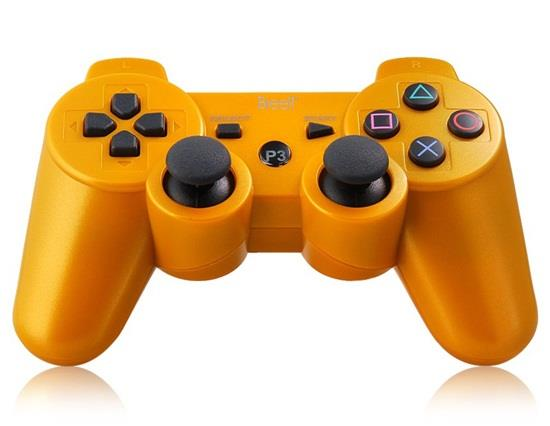 Sechs-Achsen DualShock Wireless Bluetooth Gamepad für PlayStation 3 Controller - Gold