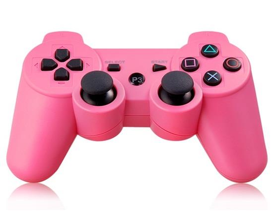 プレイステーション3コントローラ用の6軸DualShockワイヤレスBluetoothゲームパッド - ピンク