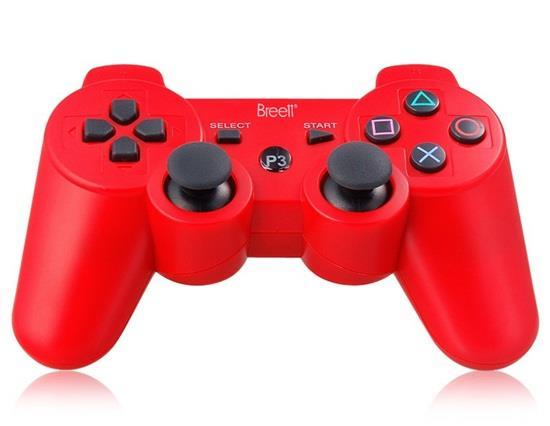 Zes-assige DualShock draadloze Bluetooth-gamepad voor PlayStation 3 Controller - rood
