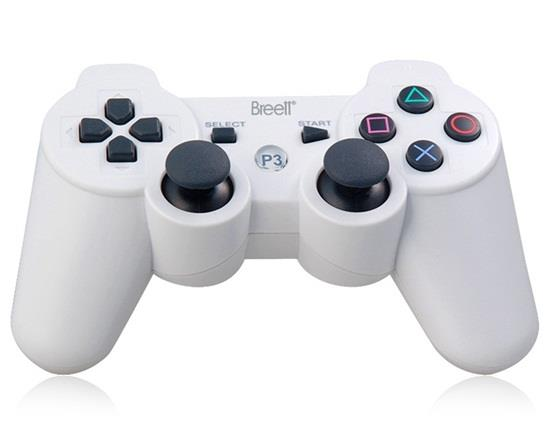 Manette Bluetooth sans fil DualShock à six axes pour manette PlayStation 3 - Blanc