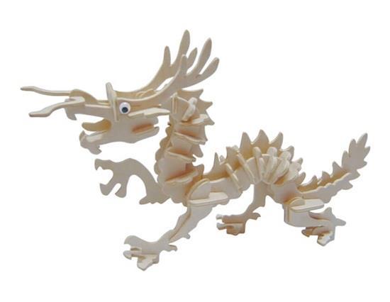 G-M005A Mini modello di drago tradizionale DIY 3D Puzzle di animali in legno Safe Friendly-Environmental Simulation Intelligence T