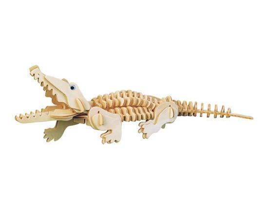 G-M013 Mini Modèle De Crocodile 3D DIY En Bois Animal Puzzles Coffre-Fort Amical-environnement Simulation Intelligence Jouets Pour Enfants