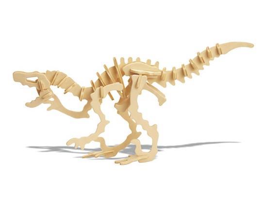 YX0424W D-09-1 DIY 3D Fából készült dinoszaurusz állat puzzle Mini Deinonychus modell biztonságos, környezetbarát szimuláció Intel