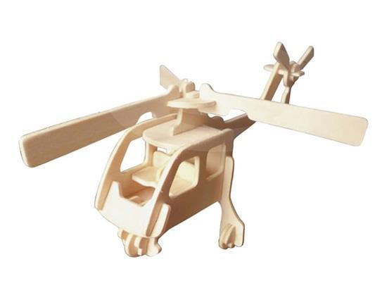 DIY 3D fa puzzle Mini helikopter modell biztonságos barátságos-környezetvédelmi szimulációs intelligencia játékok gyerekeknek