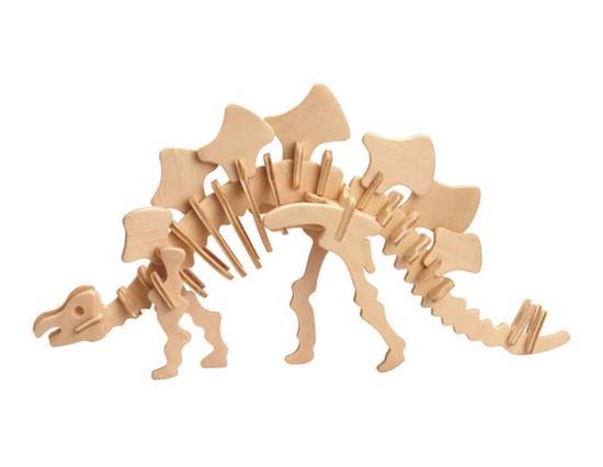 FAI DA TE 3D Puzzle in legno Mini Stegosauro Modello Sicuro amichevole-ambientale Simulazione Giocattoli di intelligenza per bambini Bambini