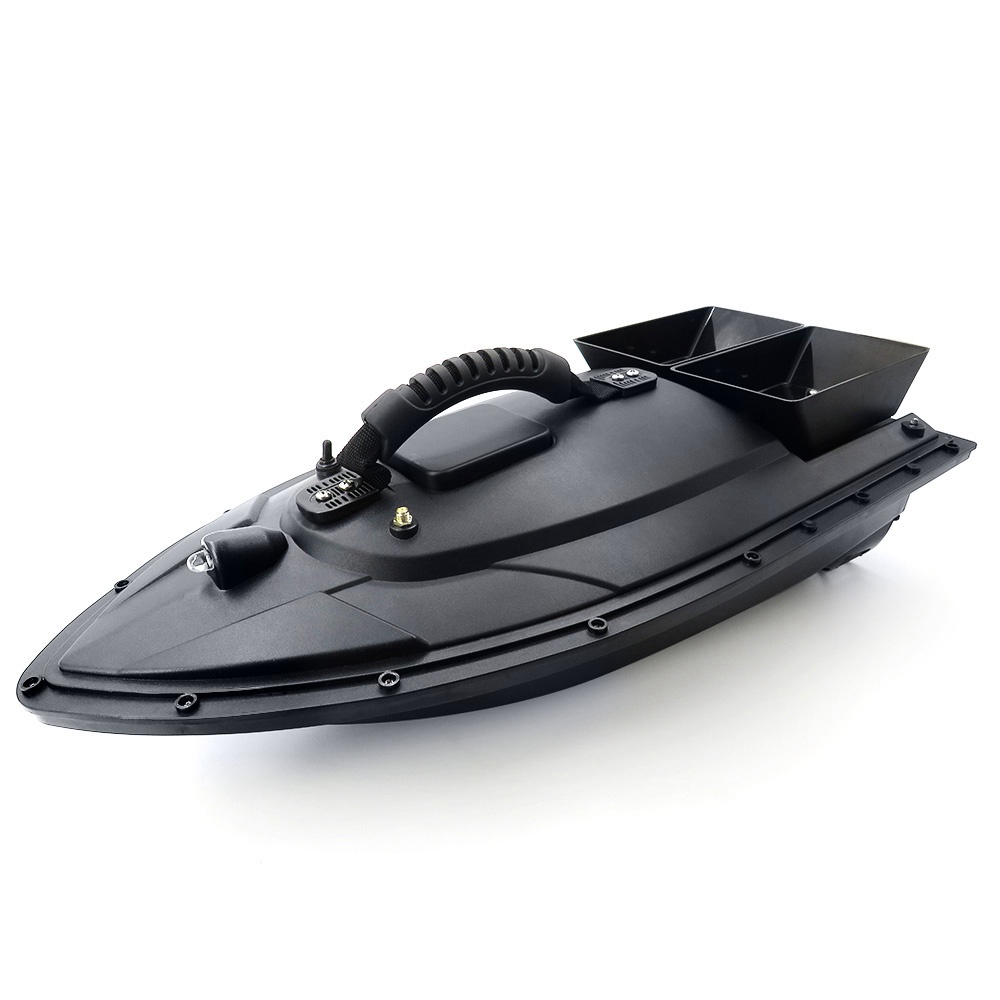 Flytec 2011-5 Intelligent Fishing Bait RC Boat with Double Motors 500M RC Distance 1.5KG Loading LED Light - Black